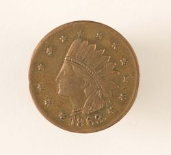 Civil War Token Head Side