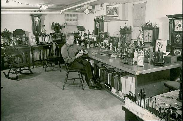 Nailor picture of Willis Michael in his workshop