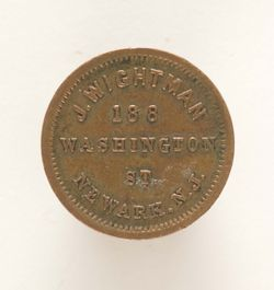 Civil War Token Tail Side