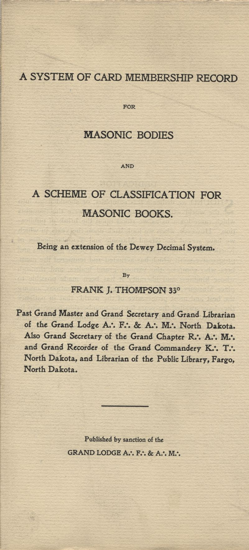 Frank_Thompson_System_of_Card_Membership