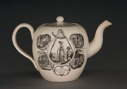 Teapot, woman, smaller