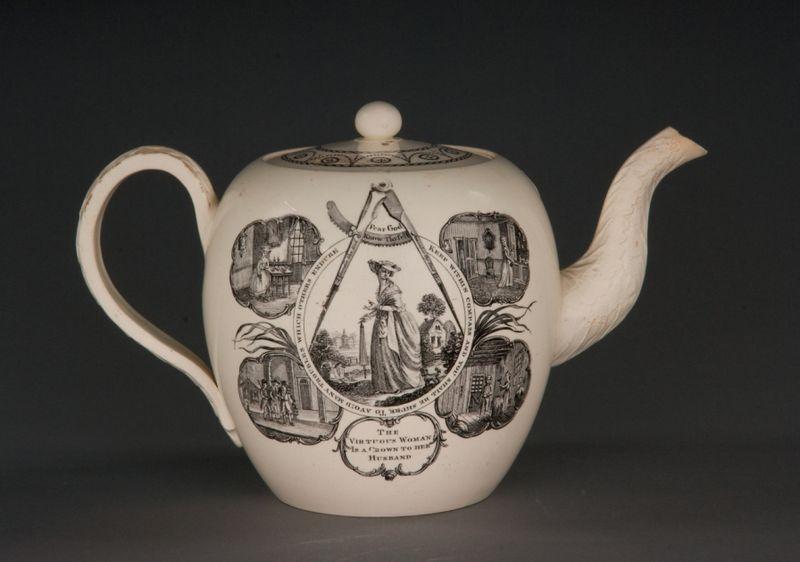 Teapot, woman, smaller