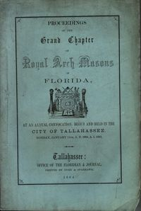 Grand Chapter Florida Proceedings 1864