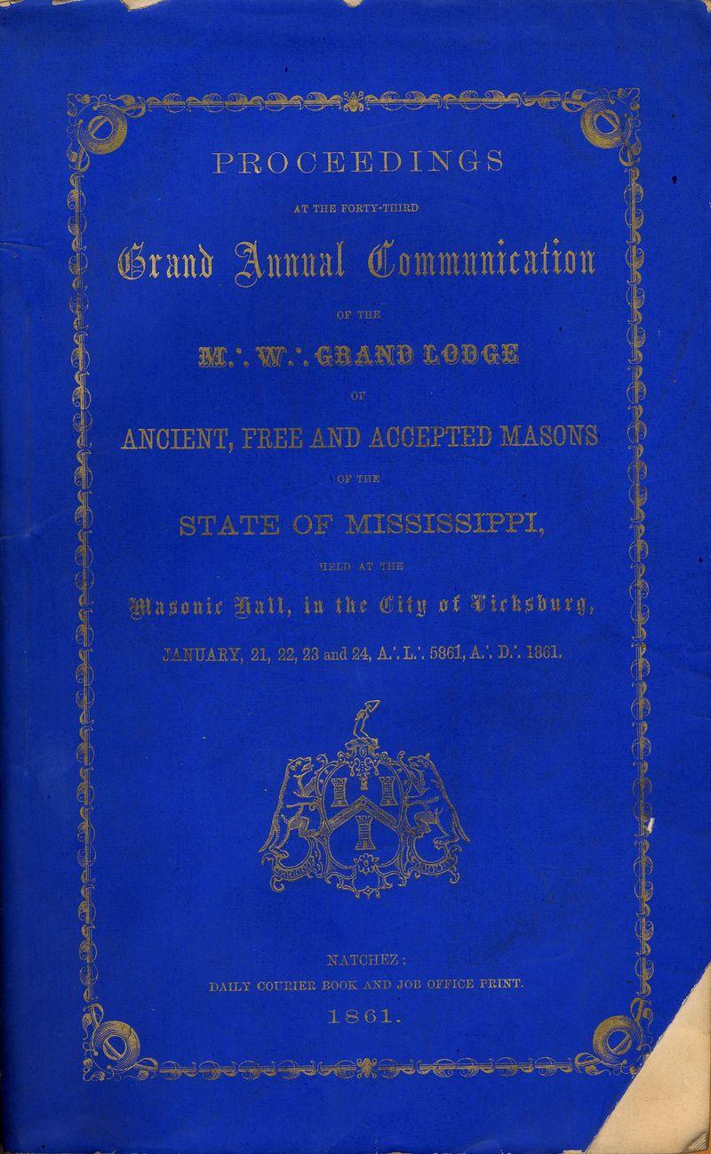 GL Mississippi Proceedings 1861