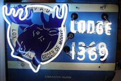 Detail of Moose sign