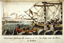 Boston Tea Party from the LOC
