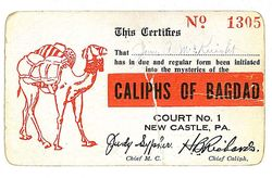 Caliphs of Bagdad Card