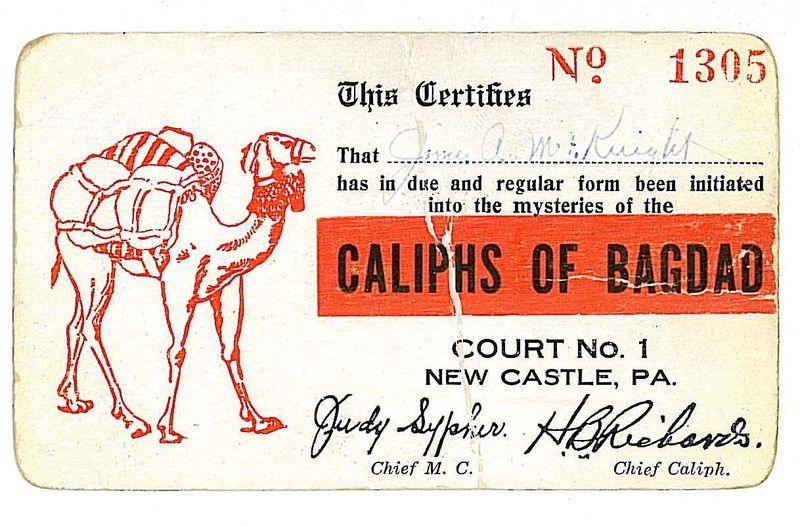 Caliphs of Bagdad Card