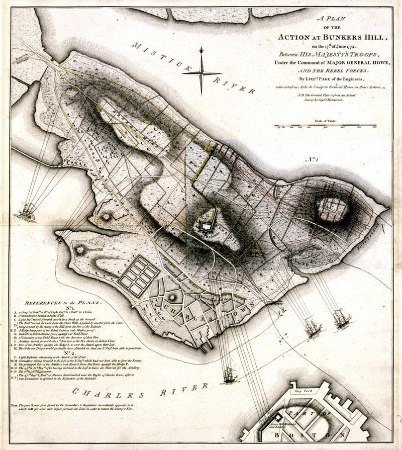 A Plan of the Action at Bunkers Hill 1775