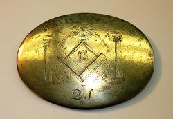 85.10 David H.Cole belt plate