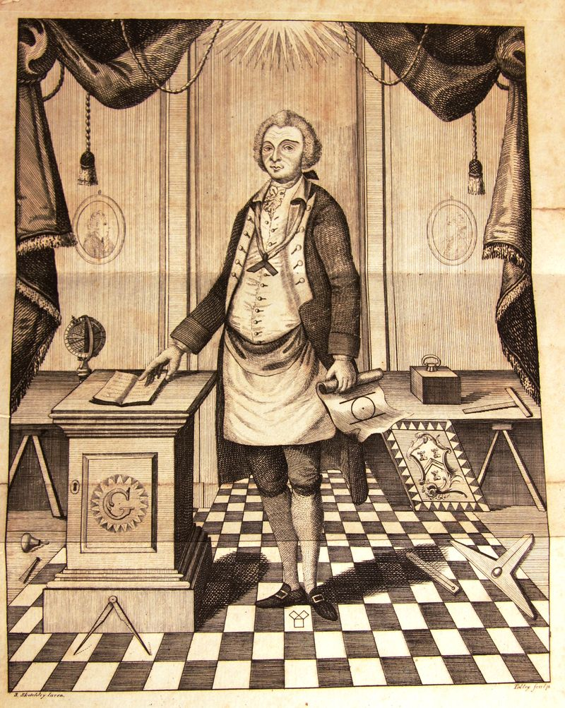 John Coustos frontispiece from the 1790 edition