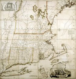 Map of the Most Inhabited Parts of New England Jeffreys