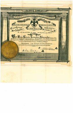 A2014_LLAlexander_Scottish Rite certificate