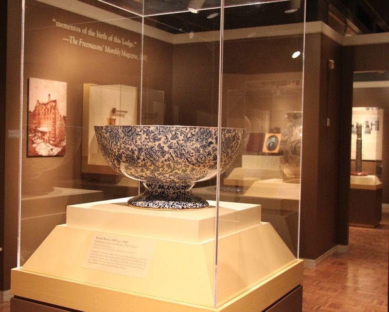 Grecian Lodge punch bowl