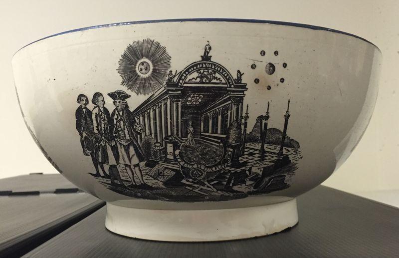 Punch Bowl Masonic Scene