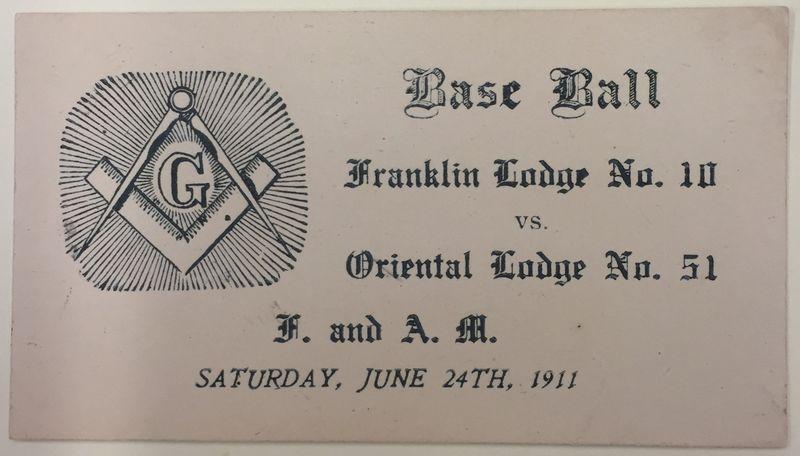 Baseball Ticket