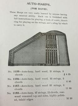 Pettibone harp catalog
