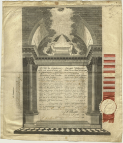 John Kern certificate Van Gorden Williams Library