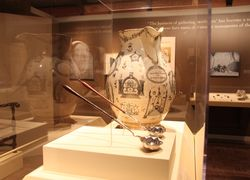 Walton pitcher and ladles in gallery