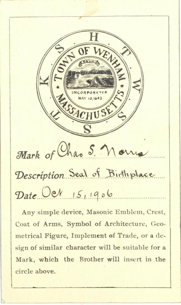 Norris mark card