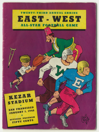 East West Shriner game cover 1948 - smaller
