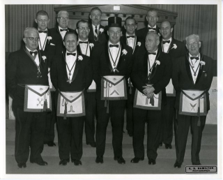 Members of Union Lodge No. 5, 1964.