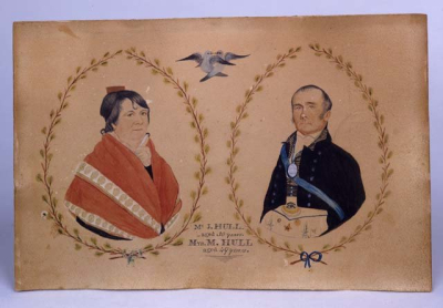 Mr. J. and Mrs. M. Hull, ca. 1800.